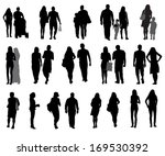 set of silhouette walking... | Shutterstock . vector #169530392