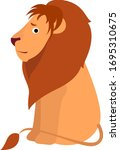 scared lion  illustration ... | Shutterstock .eps vector #1695310675