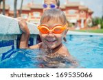 activities on the pool. cute... | Shutterstock . vector #169535066