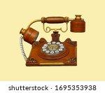 Vintage Phone  Wooden Telephone ...