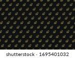 Vitamin d pattern on black...