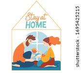 vector quarantine illustration...   Shutterstock .eps vector #1695425215