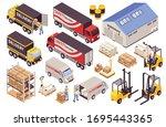 warehouse storage picking... | Shutterstock .eps vector #1695443365