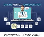 vector illustration of medical... | Shutterstock .eps vector #1695479038