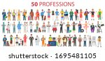 50 Professions. Big Set Of...
