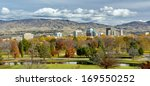 city of boise and park in the... | Shutterstock . vector #169550252