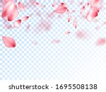 japanese cherry petals on... | Shutterstock .eps vector #1695508138