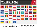 flags of europe collection. all ...   Shutterstock .eps vector #1695509635