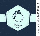 grunge line perfume icon...   Shutterstock .eps vector #1695513412
