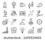 start up sign black thin line...   Shutterstock .eps vector #1695524602