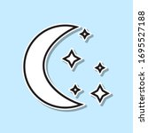moon and stars sticker icon....