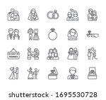 set of wedding related vector... | Shutterstock .eps vector #1695530728