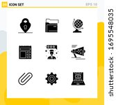 pack of 9 modern solid glyphs...