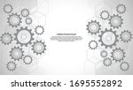 cogs and gear wheel mechanisms. ... | Shutterstock .eps vector #1695552892
