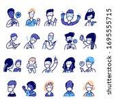 coronavirus 2019 ncov people... | Shutterstock .eps vector #1695555715