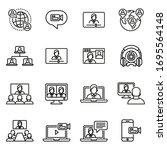 business communication  video... | Shutterstock .eps vector #1695564148