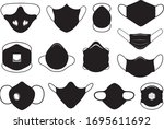 set of different masks isolated ... | Shutterstock .eps vector #1695611692