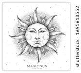 modern magic witchcraft card...   Shutterstock .eps vector #1695613552