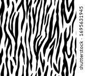 animal seamless pattern. zebra... | Shutterstock .eps vector #1695631945