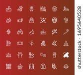 Editable 36 Fun Icons For Web...