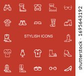 editable 22 stylish icons for...   Shutterstock .eps vector #1695643192