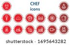 editable 14 chef icons for web... | Shutterstock .eps vector #1695643282