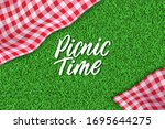 picnic time hand drawn... | Shutterstock .eps vector #1695644275