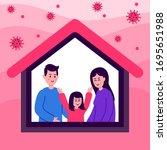 stay home during coronavirus.... | Shutterstock .eps vector #1695651988