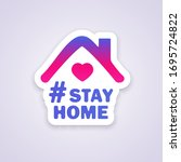 stay home icon template. emblem ...