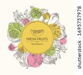 Background With Fruits Pitaya ...
