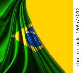 brazil flag fabric and yellow... | Shutterstock . vector #169577012