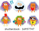 vector collection of animals 21 ...   Shutterstock .eps vector #16957747