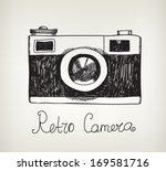 Vector Retro Hand Drawn Hipste...
