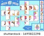 kids paper craft. 3 d cubes...   Shutterstock .eps vector #1695822298