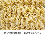 Close Up Of Instant Raw Noodle...