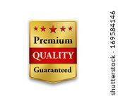 golden premium quality badge on ... | Shutterstock .eps vector #169584146