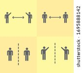 Social Distancing Pictogram...
