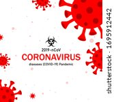 virus on white background.... | Shutterstock .eps vector #1695912442