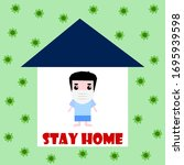 stay home to prevent the... | Shutterstock .eps vector #1695939598