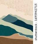 abstract mountain landscape... | Shutterstock .eps vector #1695942715