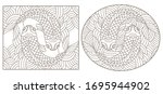 set contour illustrations of... | Shutterstock .eps vector #1695944902
