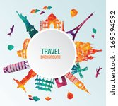 travel and tourism background | Shutterstock .eps vector #169594592