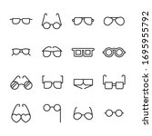vector line icons collection of ... | Shutterstock .eps vector #1695955792