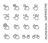 icon set of gesture. editable... | Shutterstock .eps vector #1695955795