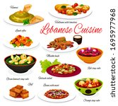 lebanese cuisine vegetable and...   Shutterstock .eps vector #1695977968
