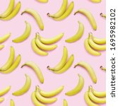 bananas on a pink background ... | Shutterstock . vector #1695982102