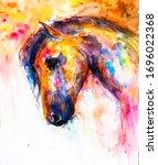 Original Painting. Horse...