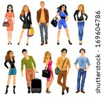 set of people | Shutterstock .eps vector #169604786