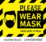 vector attention sign  please... | Shutterstock .eps vector #1696084888