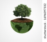 Small photo of Ecology concept, World environment day, earth day, 22 April, Green earth, tree planting ,happy Earth Day, saving the planet, Environmentally friendly, Save environment forest, world biodiversity day